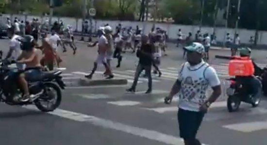 Clássico entre Sport e Santa Cruz é marcado por violência