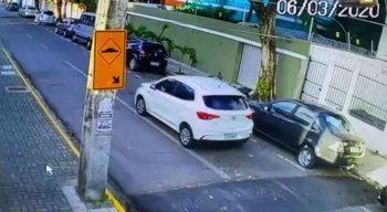 O caso aconteceu na Rua Ernani Braga, nessa sexta-feira (6).