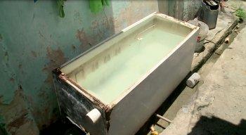 O corpo da mulher foi encontrado em uma geladeira cheia de água