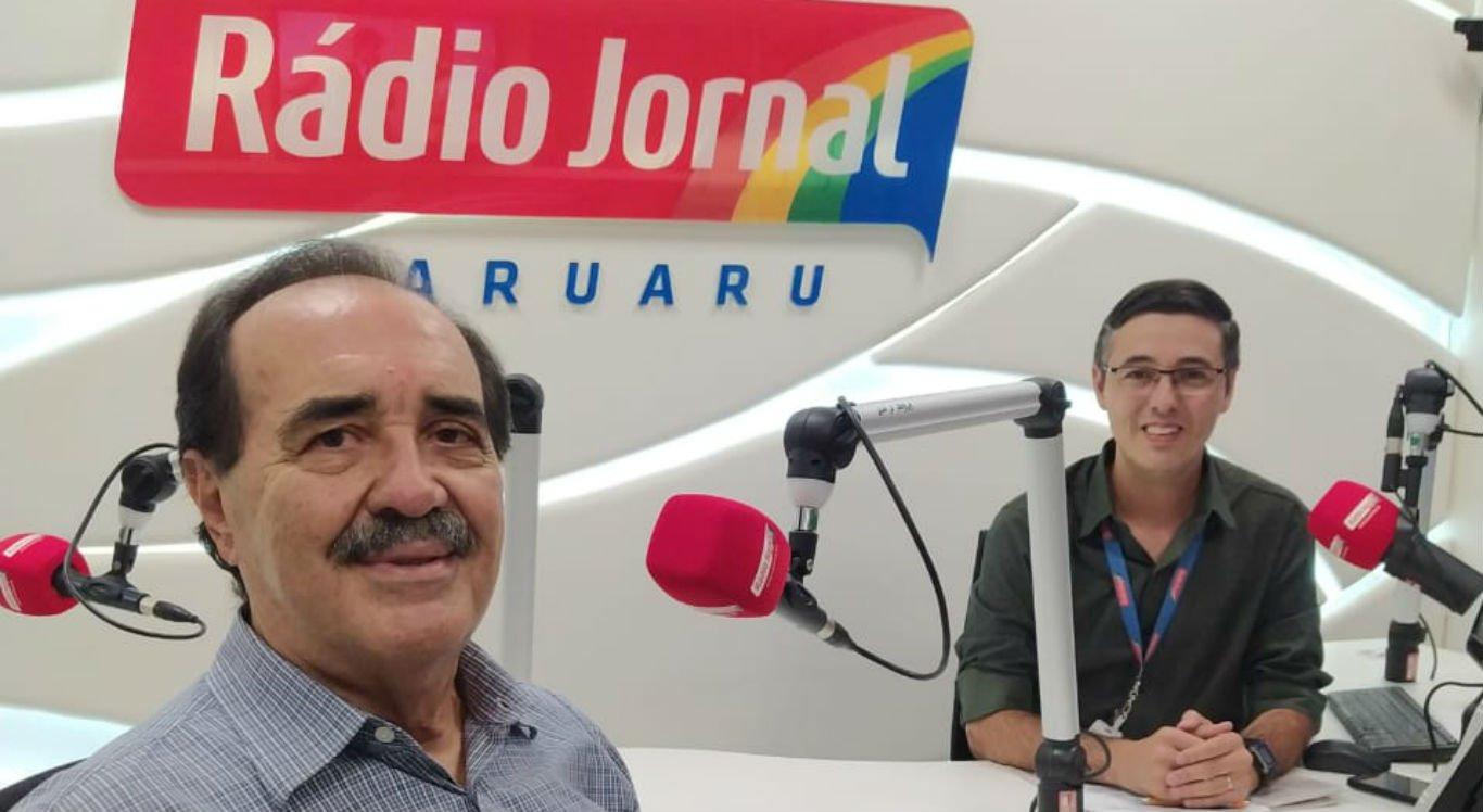 Jorge Gomes e Berg Santos, na Rádio Jornal Caruaru