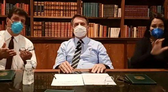 Presidente Jair Bolsonaro não tem diagnóstico do novo coronavírus