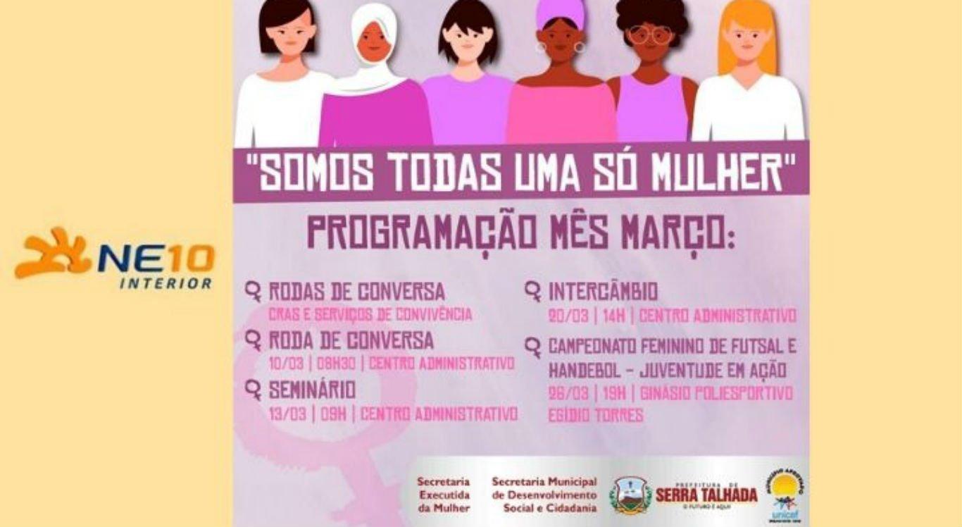 Programação do mês de março em Serra Talhada