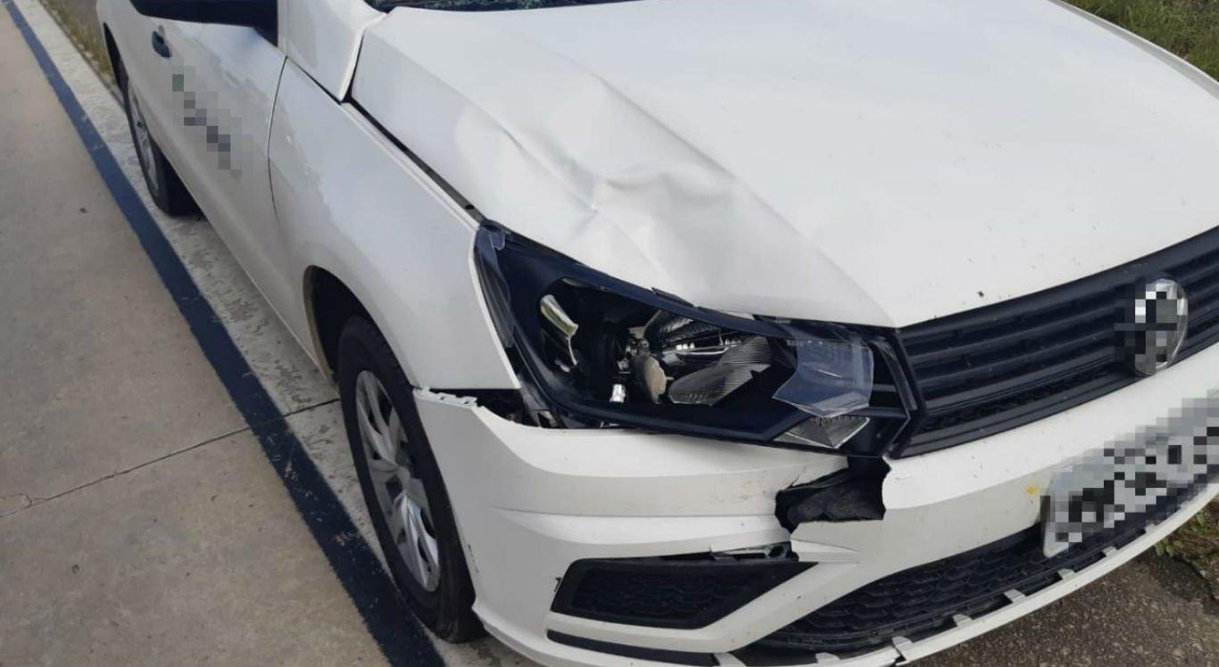 Carro atingiu homem na BR-104, em Caruaru