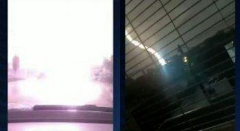 Os relâmpagos, trovões e raios foram registradas no município de Surubim, no Agreste de Pernambuco
