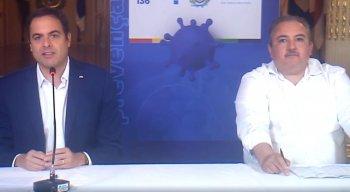 Governador de Pernambuco, Paulo Câmara, e secretário estadual de Saúde, André Longo