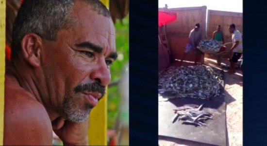 Pescador aproveita boa pescaria e faz doação para ajudar os moradores de Ipojuca durante a quarentena do coronavírus