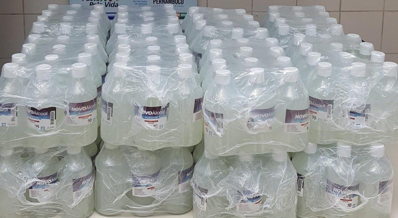 Álcool em gel falsificado foi apreendido