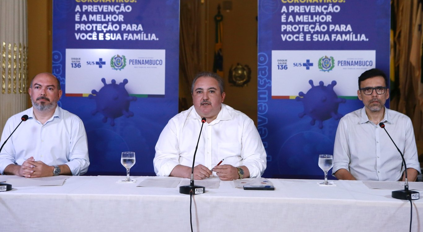 Coletiva sobre o coronavírus em Pernambuco
