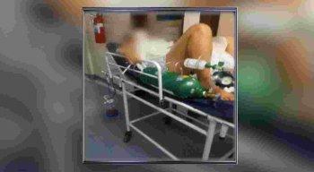 A comerciante, de 26 anos, grávida de nove meses, foi levada às pressas para o Hospital da Restauração