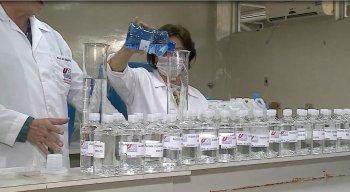 A produção de álcool em gel será doada para cerca de 50 instituições