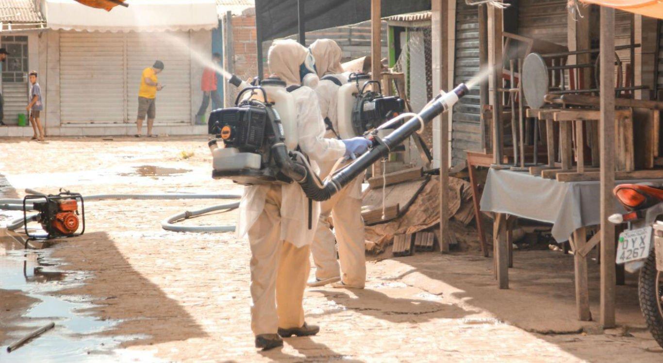 Feira livre foi um dos locais higienizados em Serra Talhada