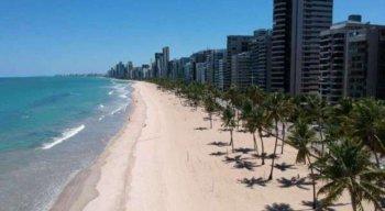 Praia de Boa Viagem, na Zona Sul do Recife