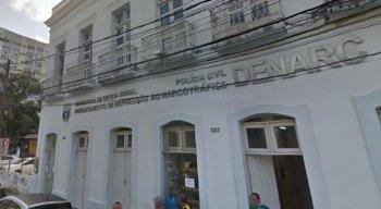 Presos foram levados à sede do Departamento de Repressão ao Narcotráfico, no bairro da Boa Vista