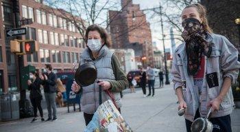 Estados Unidos enfrenta grande crise com alto número de infectados pelo novo coronavírus