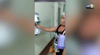 Mulher denuncia falta de água no bebedouro do HBL