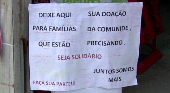 Covid-19: mercadinho recebe doações para pessoas que passam fome no Recife
