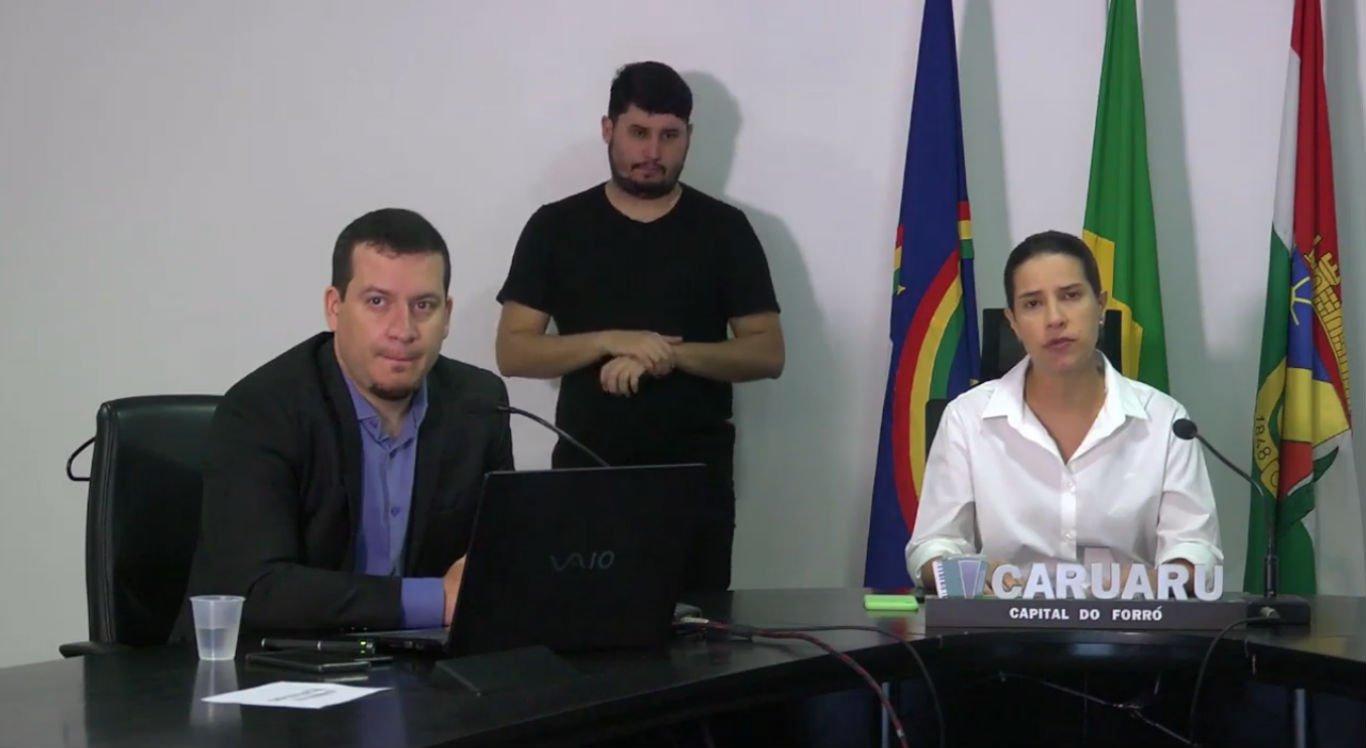 Coletiva de imprensa da Prefeitura de Caruaru nesta segunda-feira (6)