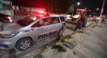 O acidente entre a moto e o trator aconteceu em Olinda