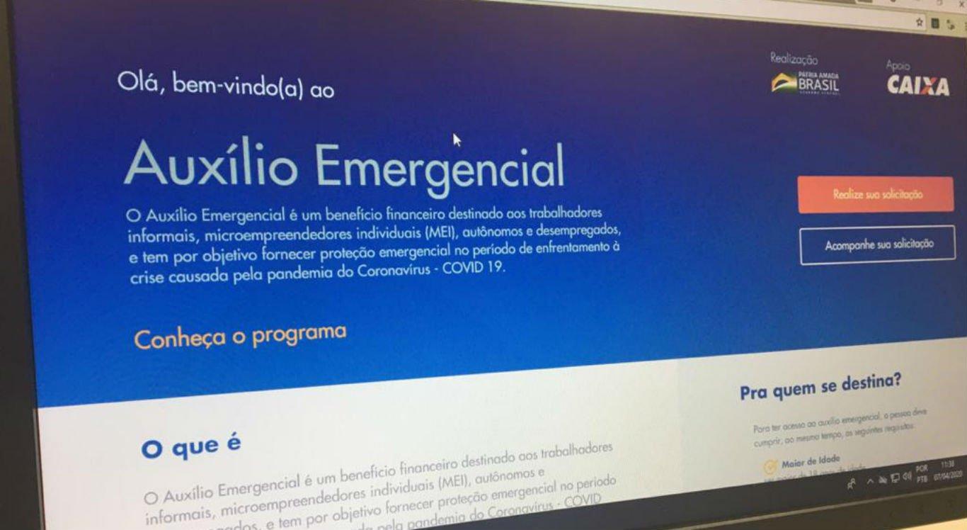 Site e aplicativo do auxílio emergencial foram disponibilizados