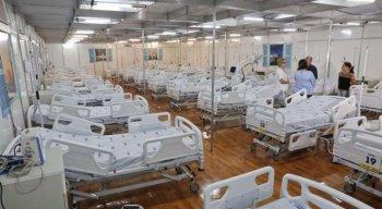 Leitos provisórios para tratamento do Coronavírus (Covid19) montados na Maternidade Barros Lima. Além dela, as policlínicas Arnaldo Marques e Amaury Coutinho também possuem leitos -