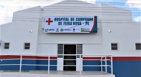Prefeitura de Feira Nova finaliza montagem de hospital de campanha