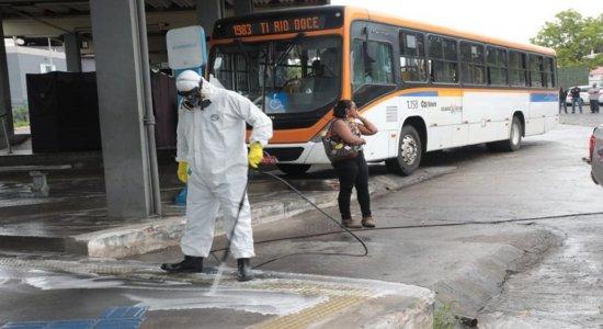 Terminal de Rio Doce passa por higienização em combate ao coronavírus