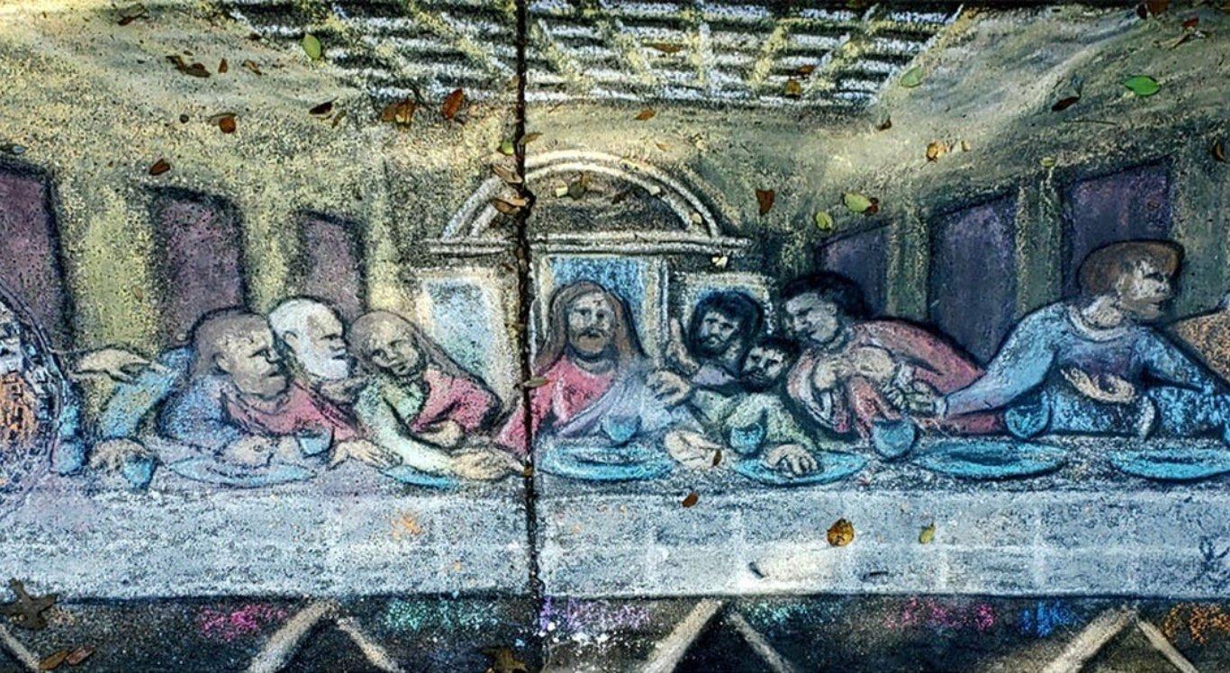 Empresário desenhou cenas dos últimos dias de Jesus