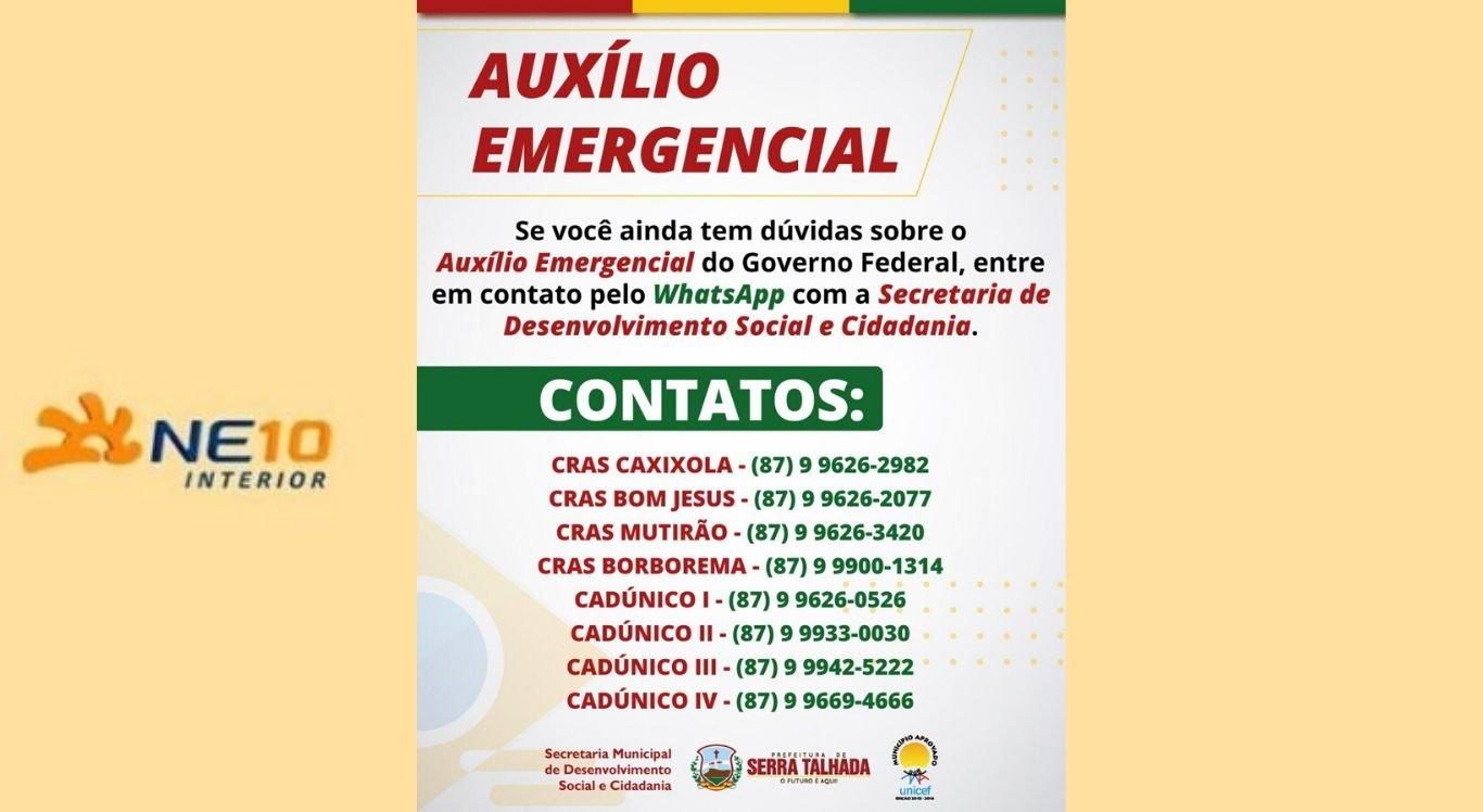 Veja os contatos para receber informações sobre o auxílio emergencial