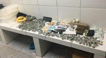 Apreensão de drogas durante operação da Polícia Civil