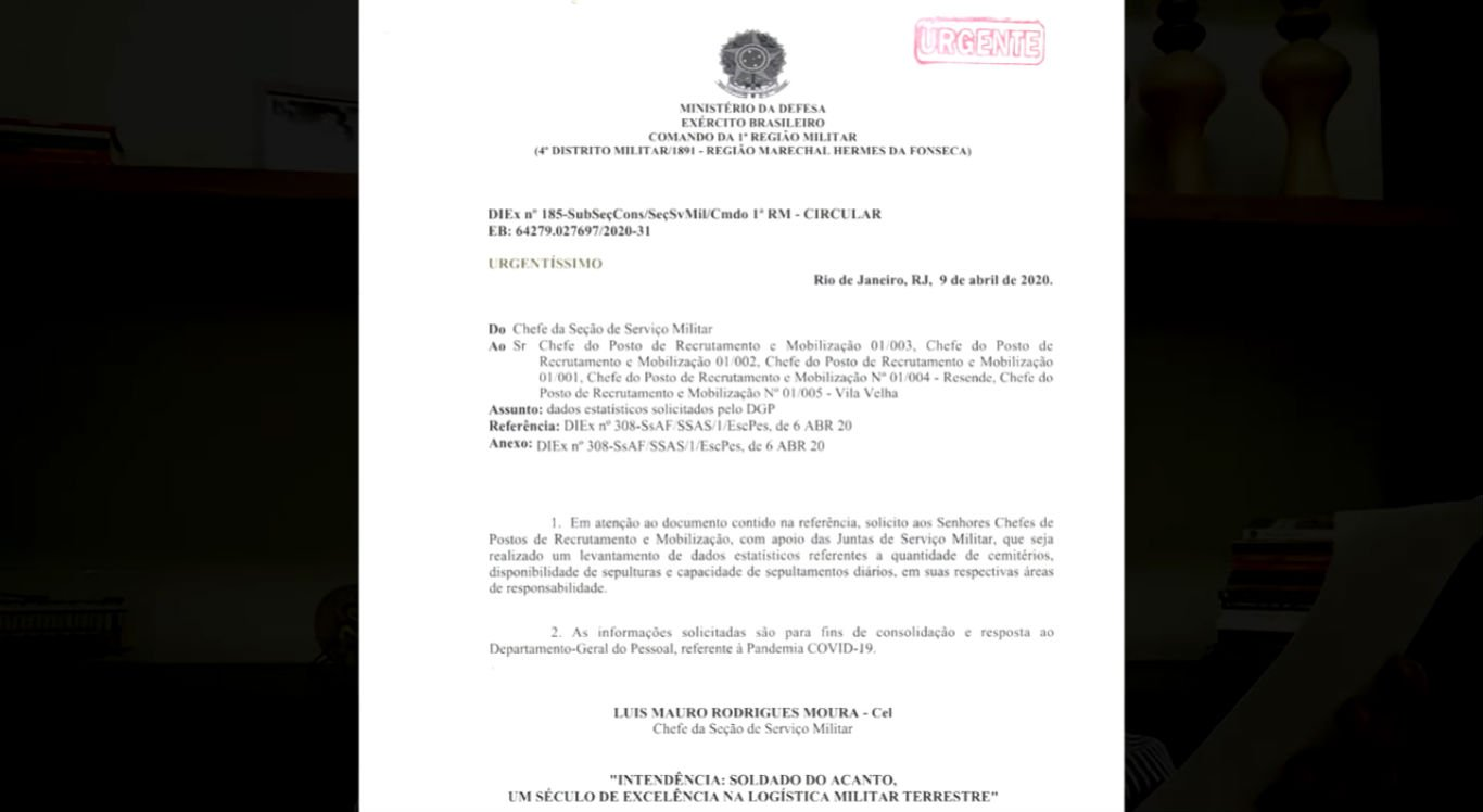 Documento recebido por prefeituras do Rio de Janeiro
