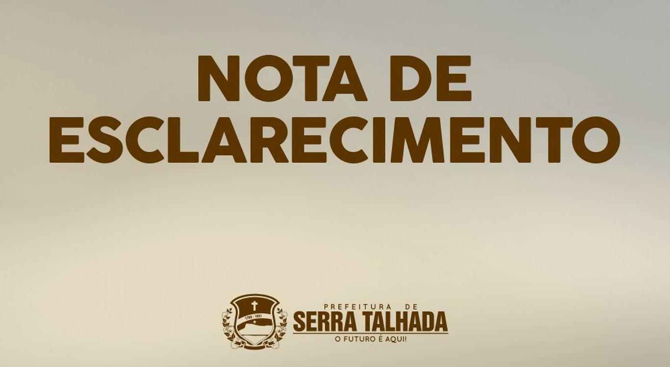 Prefeitura de Serra Talhada esclarece fake news