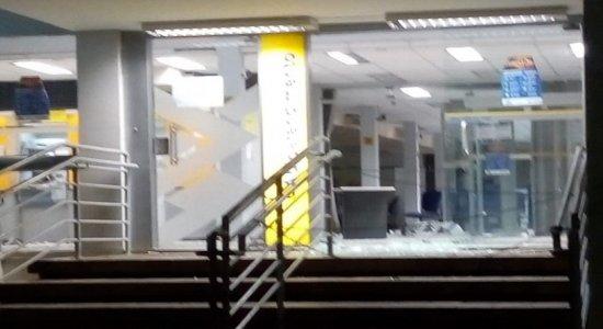 Quadrilha explode agências da Caixa e do Banco do Brasil em Catende