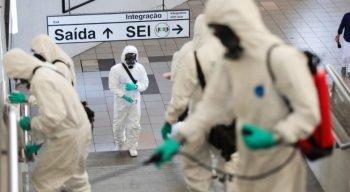 Trabalho de desinfecção começou nesta quarta-feira (22)