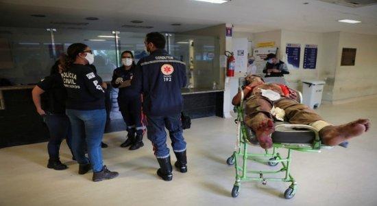 Homem que guardava lugar em fila de lotérica é esfaqueado em Moreno