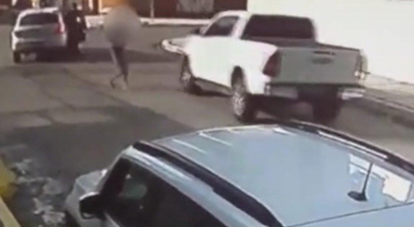 Vídeo flagrou a tentativa de assalto