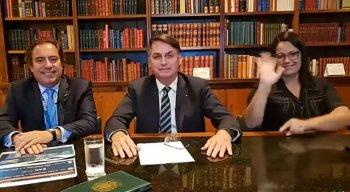 Presidente da Caixa, Pedro Guimarães, participou de live com o presidente da República, Jair Bolsonaro