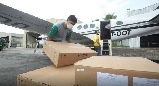 13 respiradores apreendidos por determinação da Justiça chegam a Pernambuco