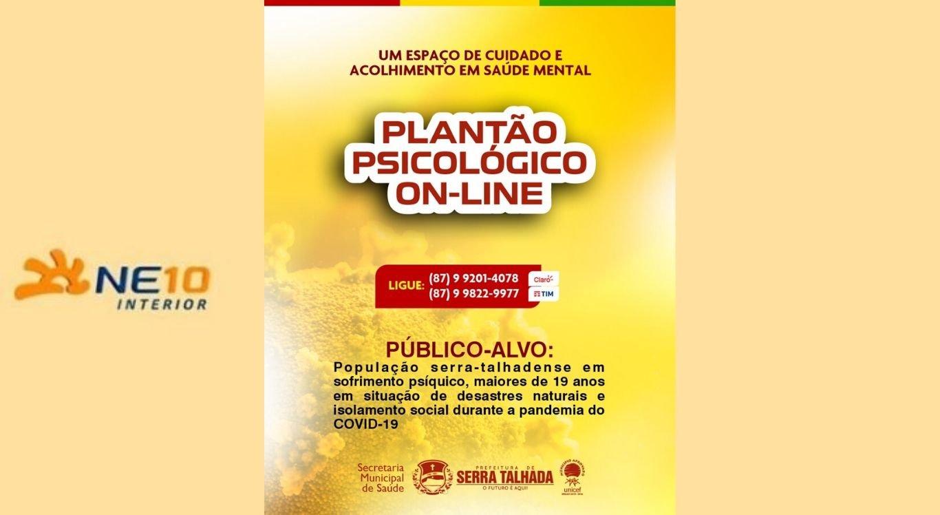 Plantão psicológico apoia moradores de Serra Talhada durante pandemia