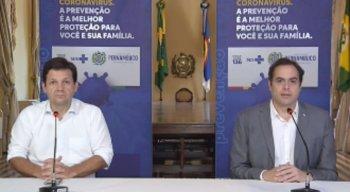 Na ocasião, Paulo Câmara reforçou a importância da parceria estratégica com a Prefeitura do Recife para ampliação da oferta dos leitos no sistema
