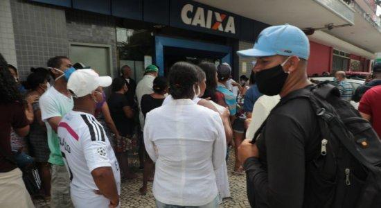 Auxílio de R$ 600: Sindicato dos Bancários de Pernambuco solicita reforço policial, após princípio de confusão e aglomerações