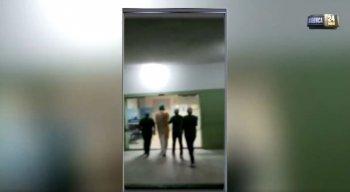 Vídeo foi gravado pela denunciante no local
