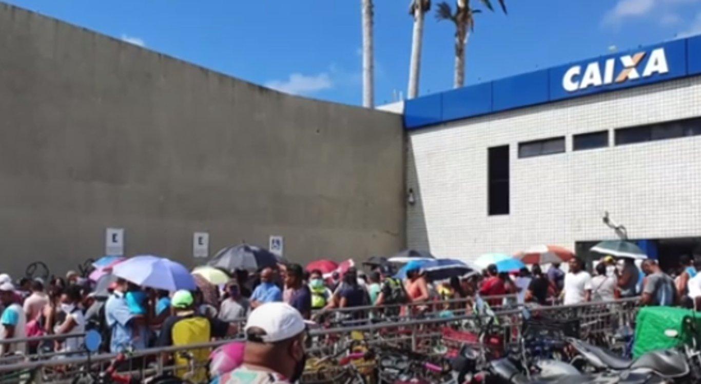 Agência da Caixa Econômica Federal no bairro da Caxangá