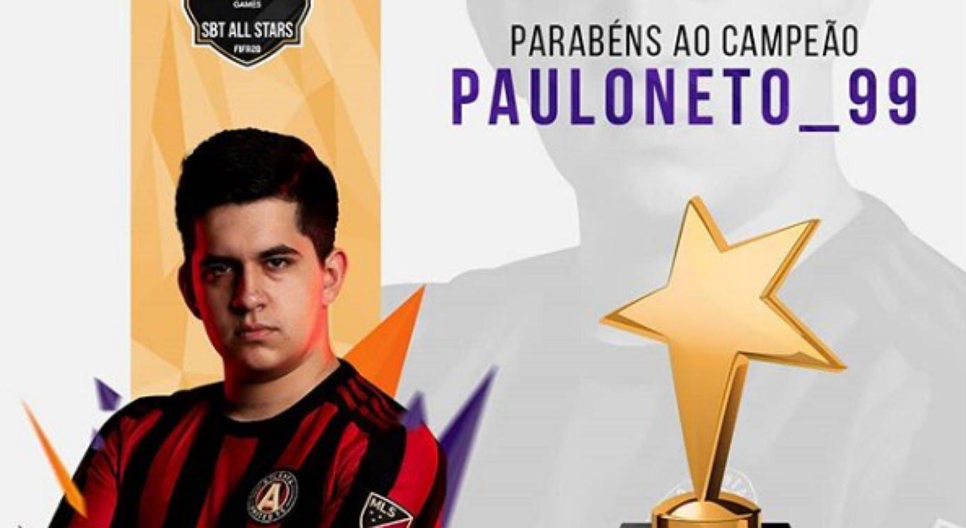 Paulo Neto venceu campeonato online de FIFA