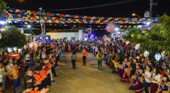 No distrito de Lajes, quadrilha junina marcou a festa