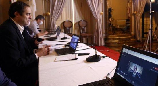 Reunião do governador Paulo Câmara com representantes dos outros poderes