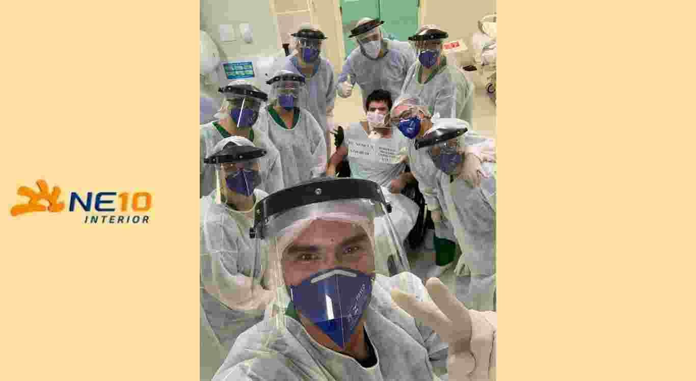 Pacientes receberam alta da UTI do HMV