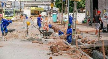 As obras de requalificação da avenida tiveram início em fevereiro de 2020