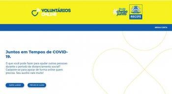 O site do projeto ''Voluntário Online'' já está disponível