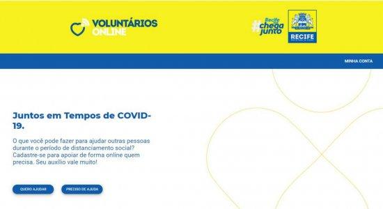 Recife cria site de voluntariado; saiba como usar os mais de 30 serviços