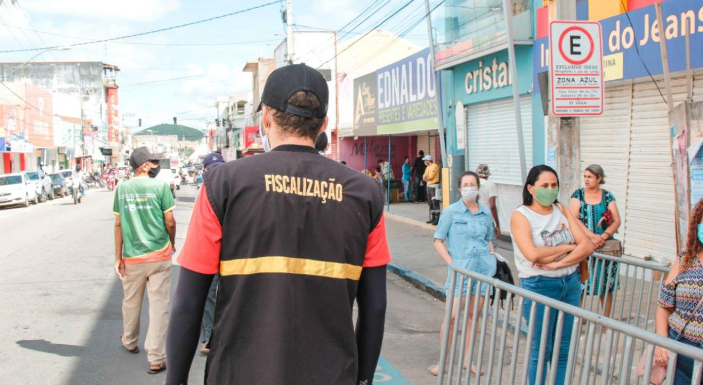 Fiscalização nas ruas de Serra Talhada